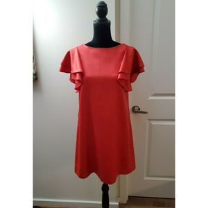 Ali Ro Shift Dress with Flutter Sleeves Sz 4